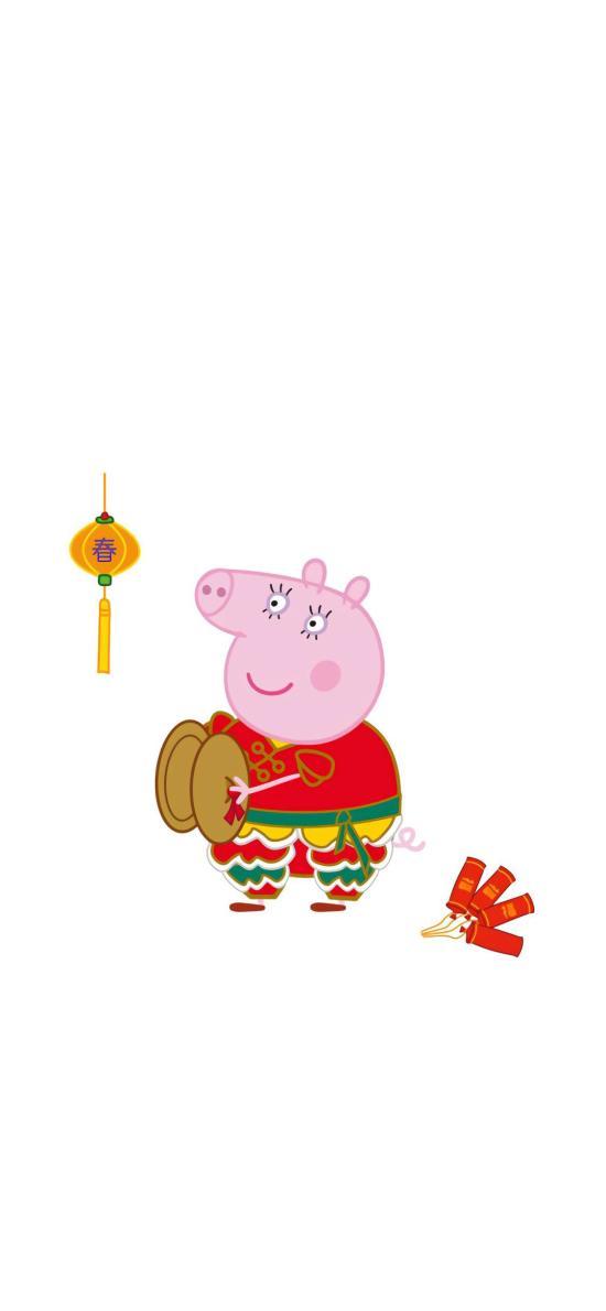 小猪佩奇 可爱 动画 鞭炮 新年