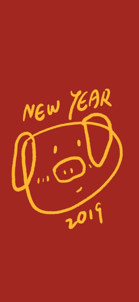 新年 猪年 2019 new year
