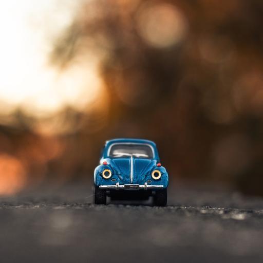 静物 玩具车 摆件 蓝色
