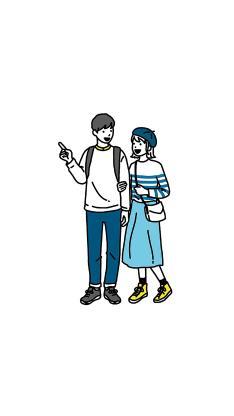 情侣 爱情 浪漫 插画 挽手