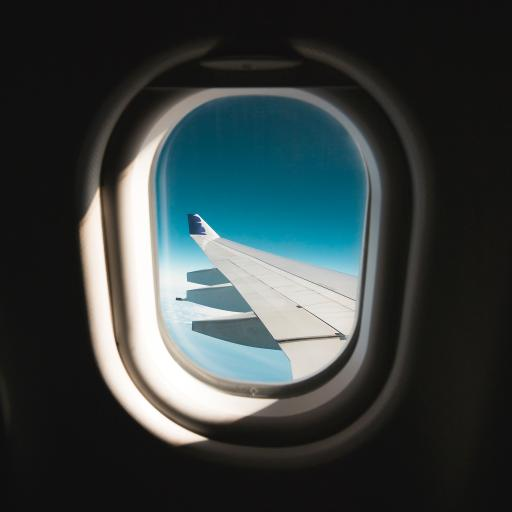 飞机 机窗 机翼 天空
