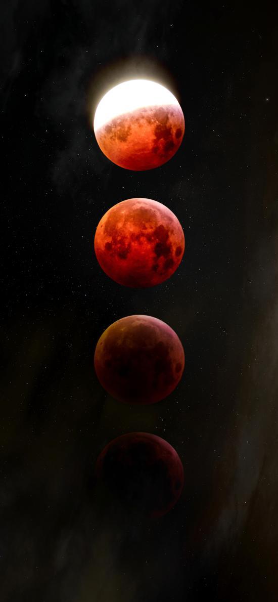 月球 星球 月食 球体