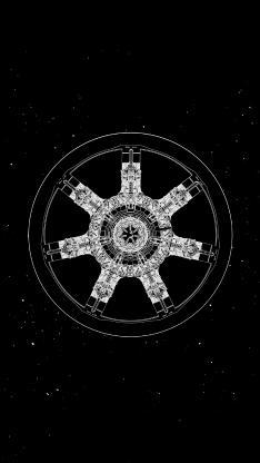 流浪地球 电影 海报 科幻 黑色