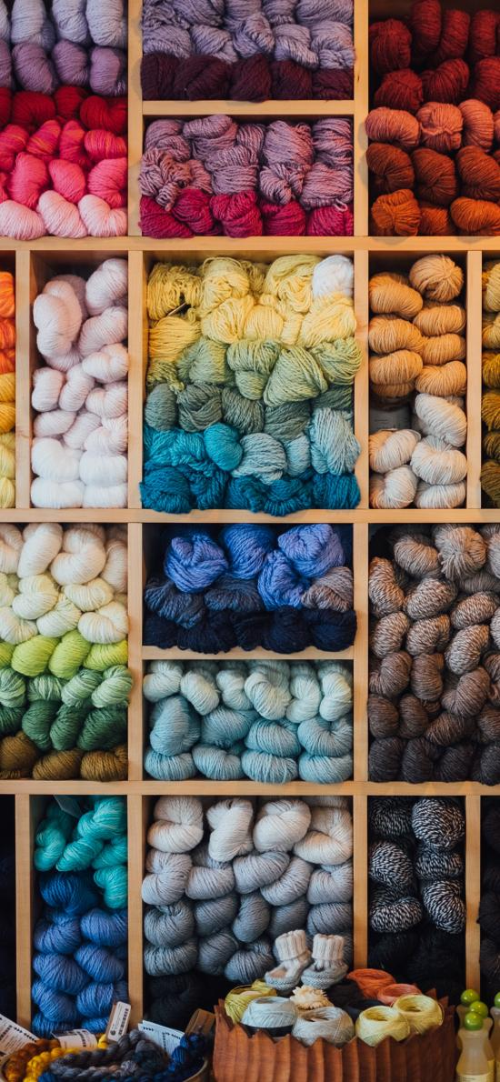 毛线 针织 线团 色彩 渐变
