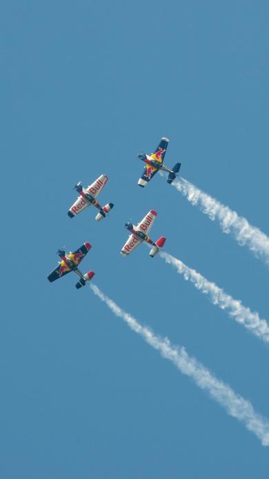 飞机 飞行 航空 滑翔机 烟雾 排列