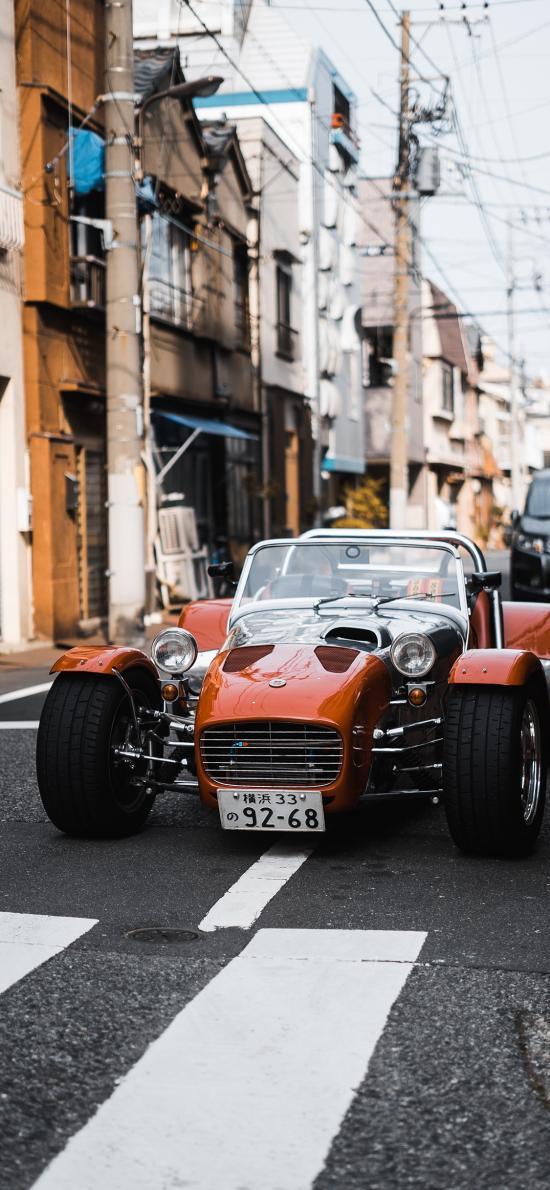 老爷车 街道 汽车 日本
