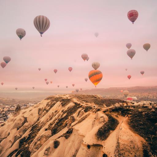 热气球 天空 唯美 升空