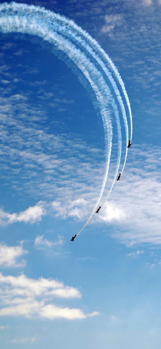 飞机 飞行 航空 烟雾 演习 天空