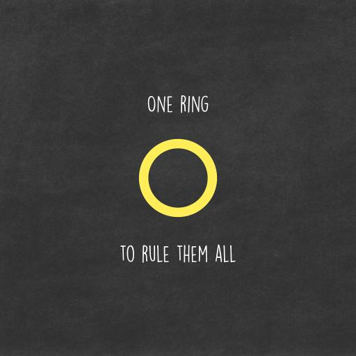 戒指统治 one ring to rule them all