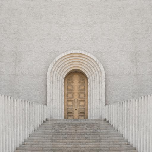 建筑 门口 阶梯 楼梯