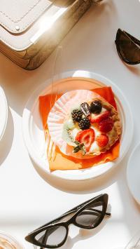 烘焙 甜品 水果派 草莓 猕猴桃