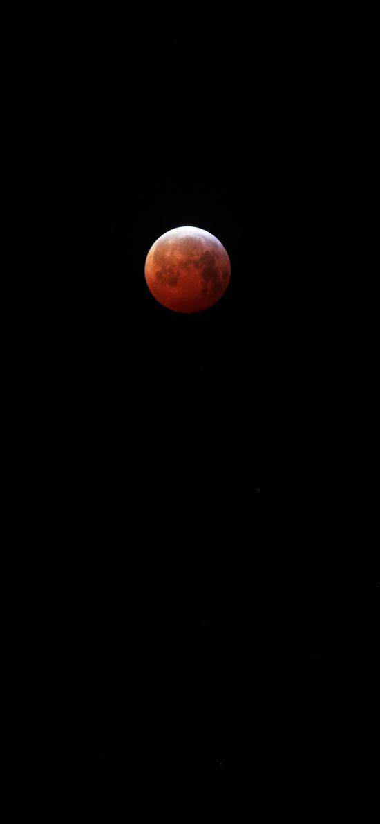 月球 星球 夜晚 月食