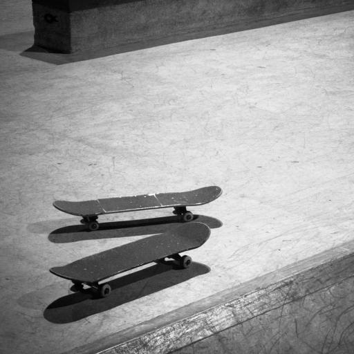 滑板 运动 黑白