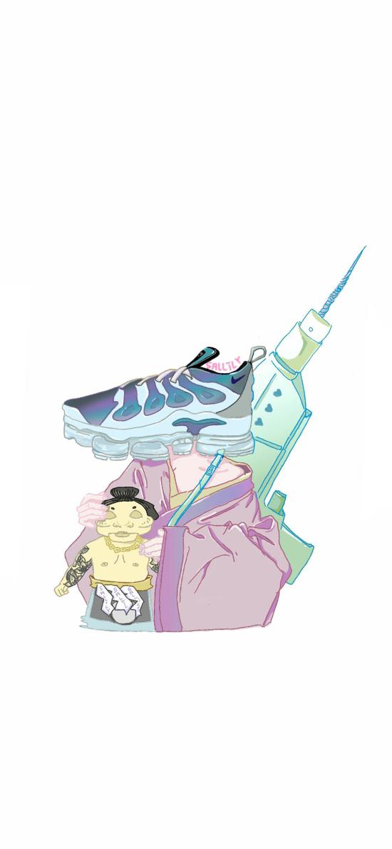 鞋子 插画 Nike 创意