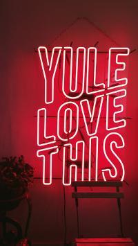 灯牌 字母 装饰 YULE LOVE THIS