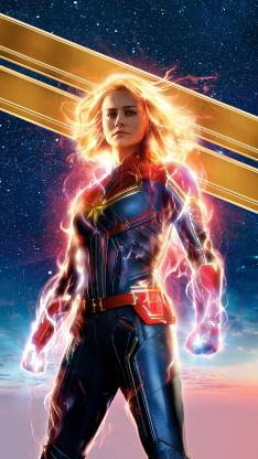 惊奇队长 电影 超级英雄 海报 欧美 漫威