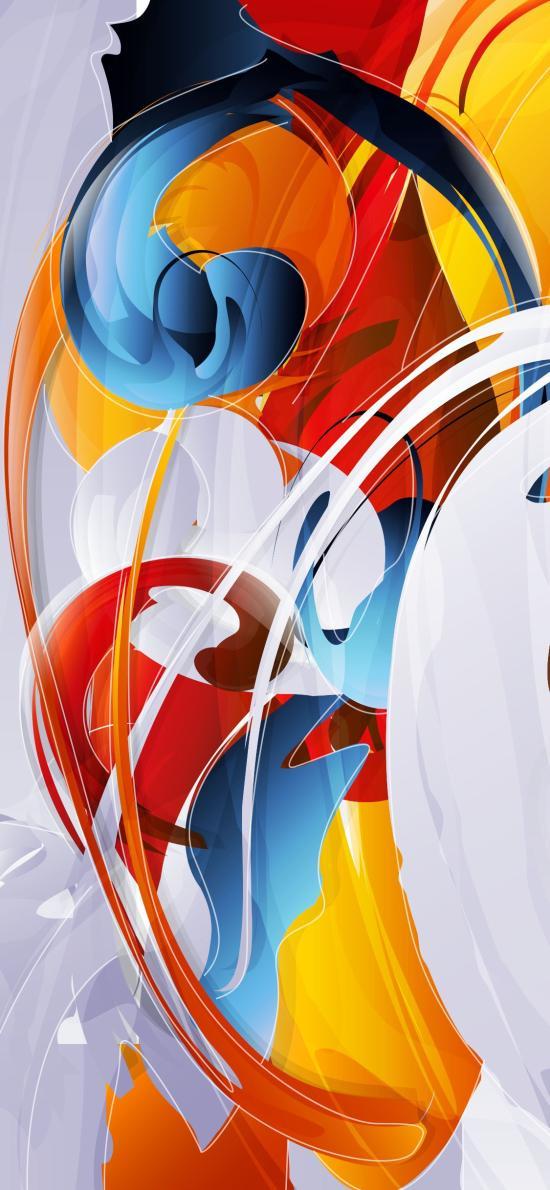 色彩 艺术 抽象 曲线
