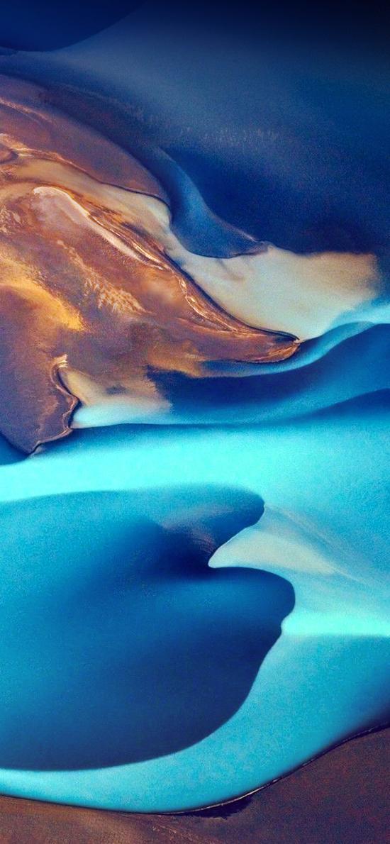 流沙 蓝色 曲线 流动