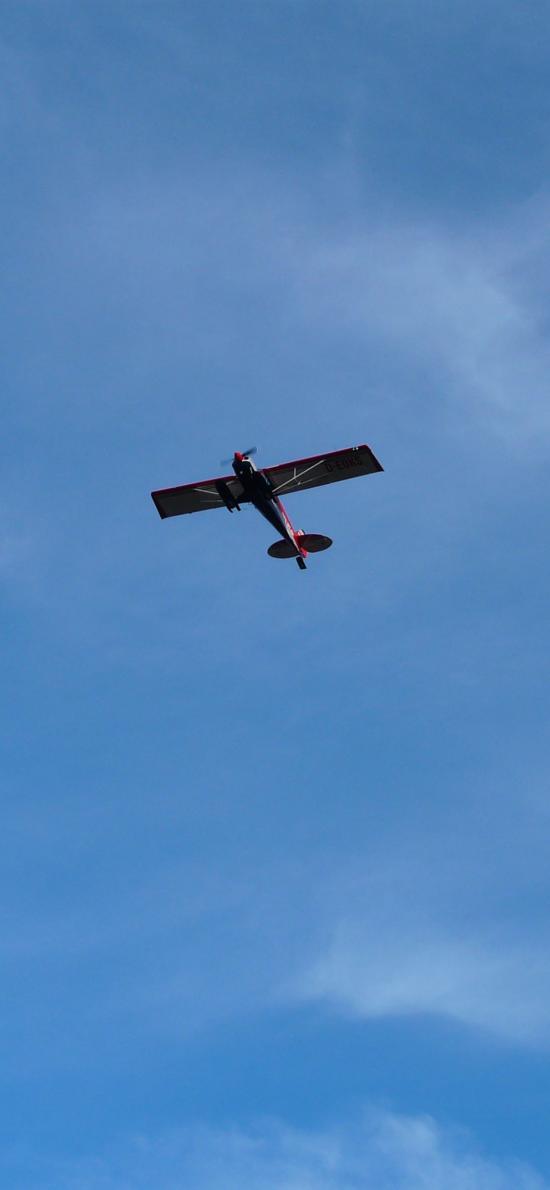 飞机 滑翔机 飞行 航空 蓝色