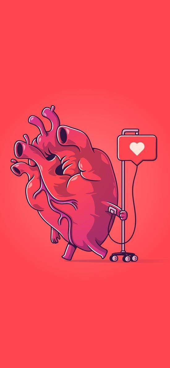 心脏 红 爱心 点赞