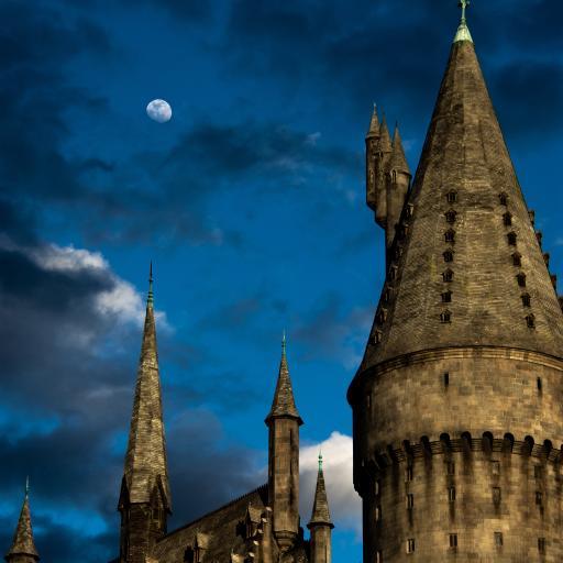 欧式 建筑 城堡 夜晚