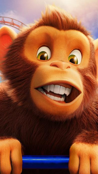 奇幻游乐园 动画 欧美 电影 海报 猴子
