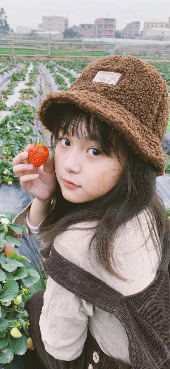 刘楚恬 小葡萄 小女孩 草莓 儿童