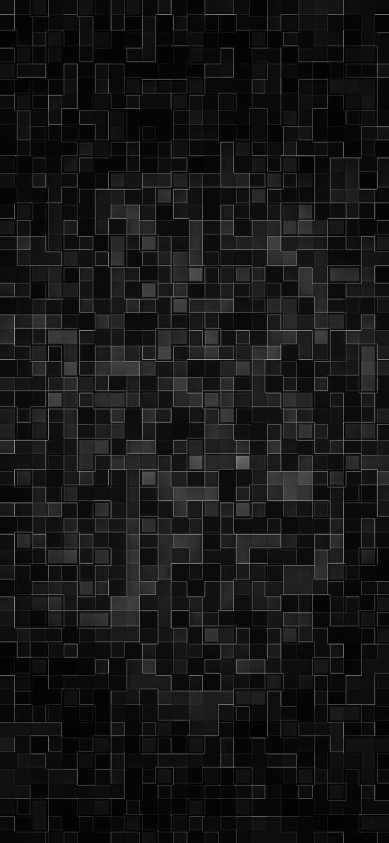 方块 黑色 几何 格子