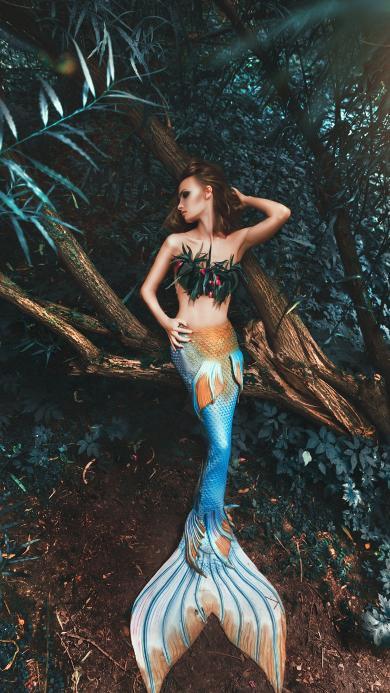 美人鱼 cos 树林 模仿