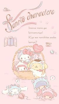 Kitty猫 凯特猫 双子星 布丁狗 粉色 可爱