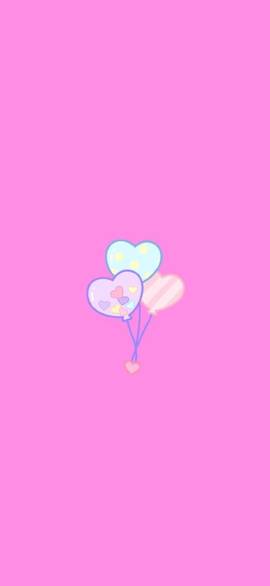气球 爱心 浪漫 爱情 粉色