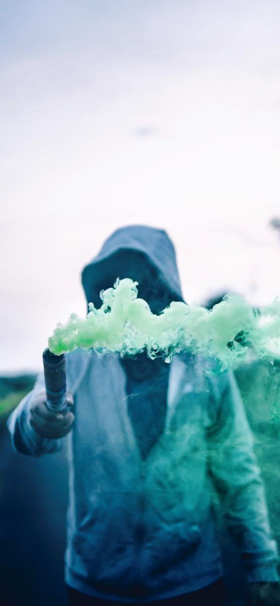 信号弹 烟雾弹 绿色 求救
