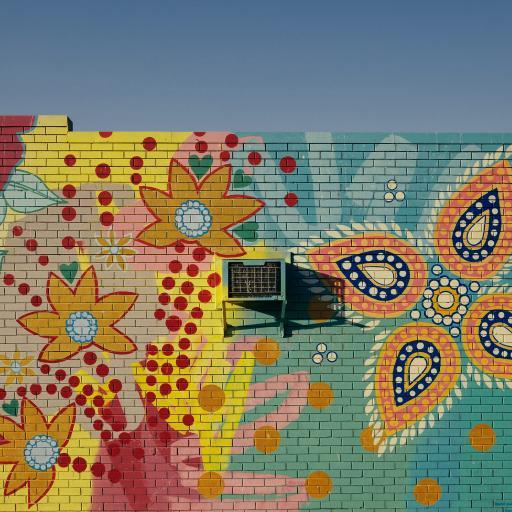 墙绘 色彩 花朵 涂鸦
