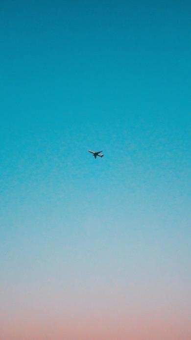 飞机 天空 渐变 远航