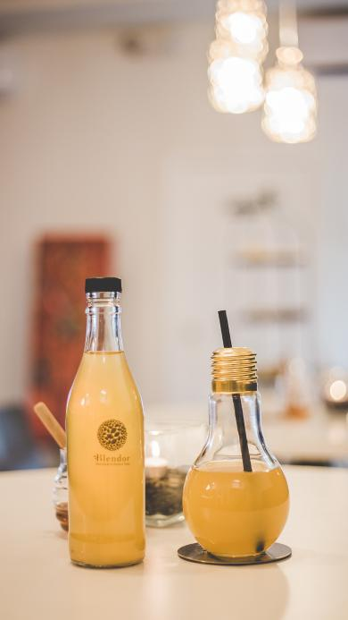 饮品 饮料 玻璃瓶 吸管