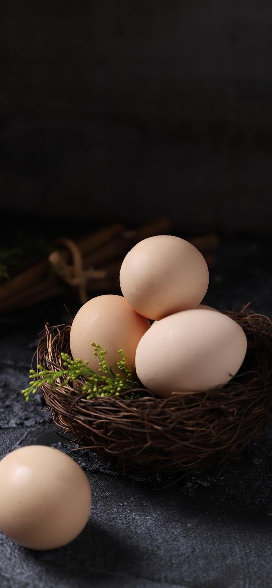 食材 鸡蛋 营养 编织篮