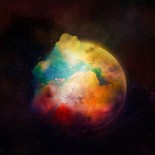 星球 色彩 渐变 银河