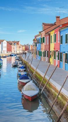 异国风情 威尼斯 水城 船只