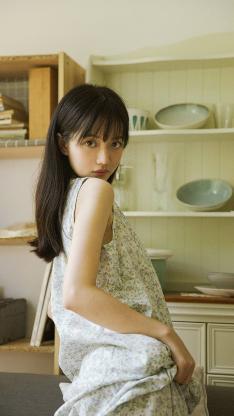 厨房 女孩 写真 日系