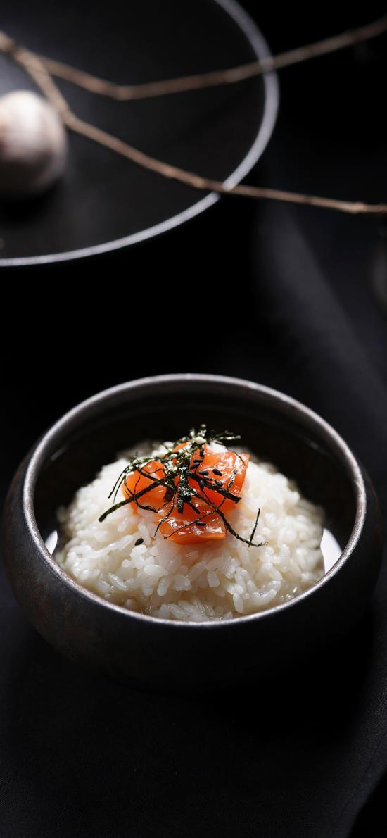 白米饭 三文鱼 紫菜