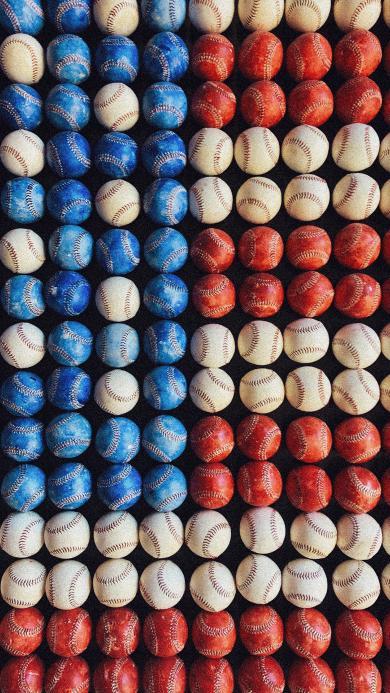 棒球 球类 排列 色彩