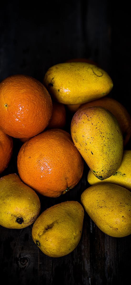 水果 芒果 橙 新鲜