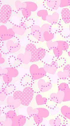 爱心 爱情 平铺 心形 粉色