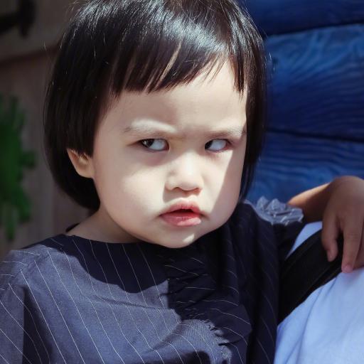 包可艾 包饺子 小女孩 翻白眼 萌 可爱
