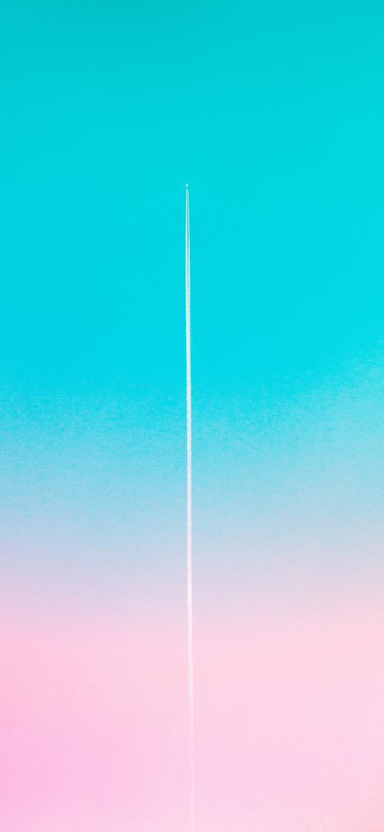 天空 渐变 蓝 粉 唯美