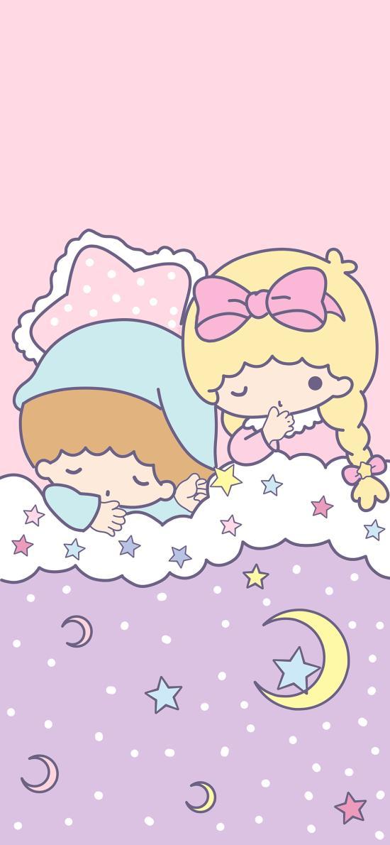 双子星 卡通 可爱 睡觉 被窝 少女心