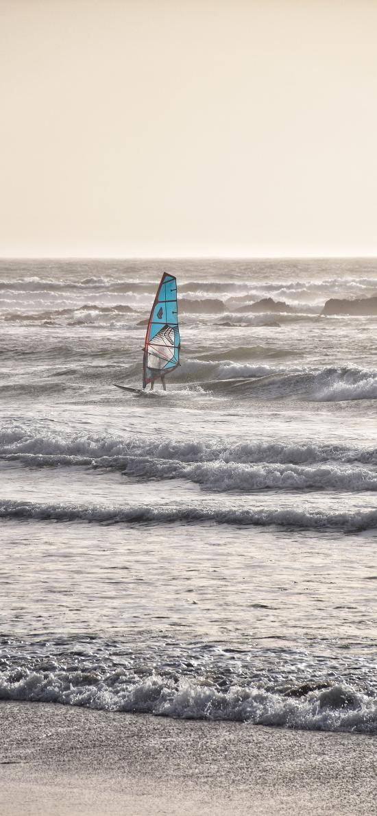 帆船 海浪 海洋 运动