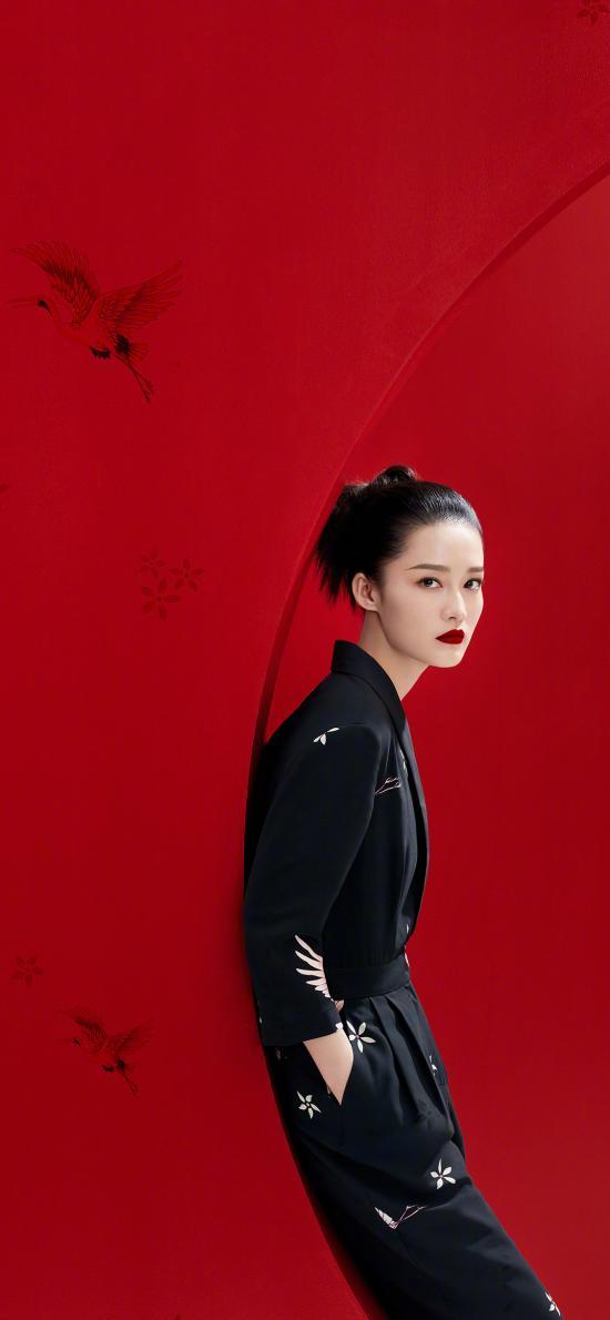 李沁 演员 明星 艺人 红色