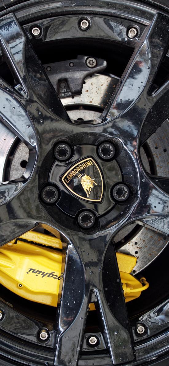 兰博基尼 超级跑车 炫酷 轮胎 车标
