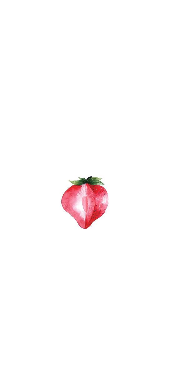 草莓 绘画 简约 水果
